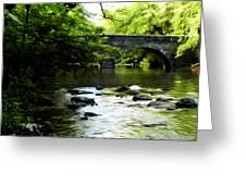 Wissahickon Bridge Greeting Card by Bill Cannon