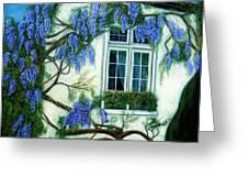 Wisteria Window Greeting Card by Jan Amiss