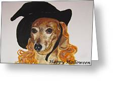 Witchy Woman Greeting Card by Carol Blackhurst