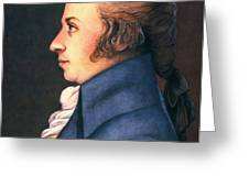 WOLFGANG AMADEUS MOZART Greeting Card by Granger