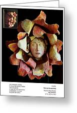 Woman Blossoming Greeting Card by Beverly Barris