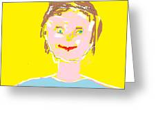 Woman Smiling Greeting Card by Felix Zapata