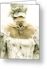Woman With Bonnet Greeting Card by Joana Kruse