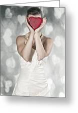 Woman With Heart Greeting Card by Joana Kruse