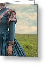Woman With Renaissance Dress Greeting Card by Joana Kruse