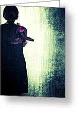 Woman With Shoes Greeting Card by Joana Kruse