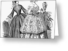 Womens Fashion, 1853 Greeting Card by Granger