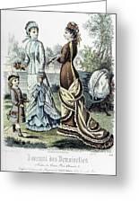 Womens Fashion, 1877 Greeting Card by Granger