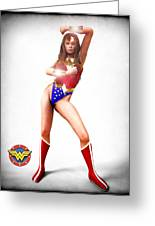 Wonder Woman Greeting Card by Frederico Borges