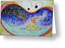 Woo Greeting Card by Asida Cheng