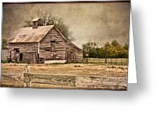 Wood Barn Greeting Card by Betty LaRue