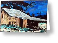Wood Shed Greeting Card by Mike Holder
