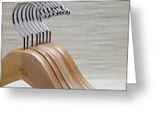 Wooden Clothes Hangers Greeting Card by Skip Nall
