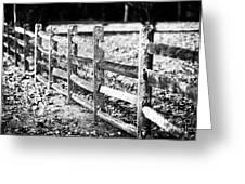 Wooden Fence Greeting Card by John Rizzuto