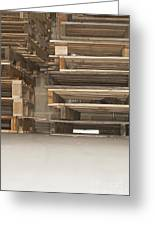 Wooden Pallets Stacked Up Greeting Card by Shannon Fagan