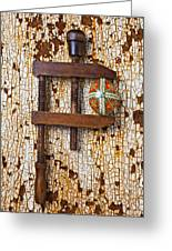Wooden Vce And Easter Egg Greeting Card by Garry Gay