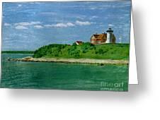 Woods Hole Lighthouse Greeting Card by Bob Senesac