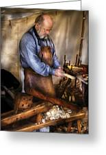 Woodworker - The Carpenter Greeting Card by Mike Savad