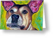Woof Woof Greeting Card by Laura  Grisham