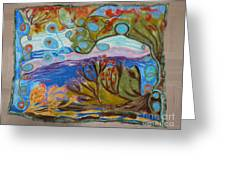 Woolscape Greeting Card by Heather Hennick