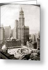 Woolworth Building, 1920s Greeting Card by Granger