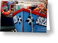 Working Harbour Greeting Card by Terri Waters