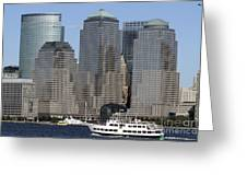 World Financial Center Nyc Greeting Card by John Van Decker