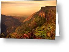 Worlds End. Horton Plains National Park. Sri Lanka Greeting Card by Jenny Rainbow