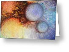 Worlds Within Worlds Greeting Card by Gwen Ontiveros