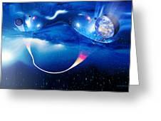Wormhole Travel Greeting Card by Detlev Van Ravenswaay