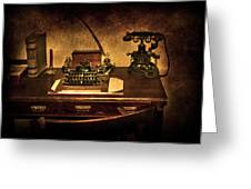 Writers Desk Greeting Card by Svetlana Sewell