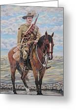 Ww1 Lighthorse At Beersheba Greeting Card by Leonie Bell