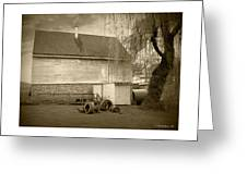 Wye Mill - Sepia Greeting Card by Brian Wallace