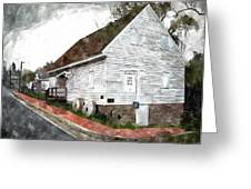 Wye Mill - Water Color Effect Greeting Card by Brian Wallace