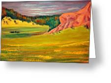 Wyoming Pastures Greeting Card by Antonia Citrino