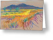 Wyoming Sketch Greeting Card by Donald Maier