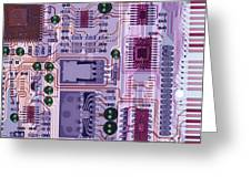 X-ray Of Sound Card Greeting Card by D. Roberts