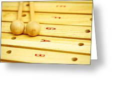 Xylophone Greeting Card by Tom Gowanlock