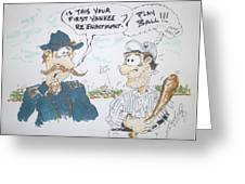 Yankee Mistake Greeting Card by Paul Chestnutt