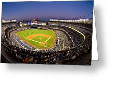 Yankee Stadium Greeting Card by Steve Zimic