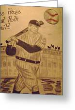 Yankees Greeting Card by Paul Rapa