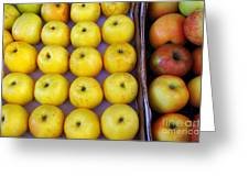 Yellow Apples Greeting Card by Carlos Caetano