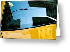 Yellow Cab Big Apple Greeting Card by Dave Bowman