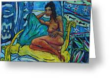 Yellow Chair 1998 Greeting Card by Bradley