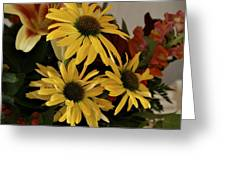 Yellow Daisies Greeting Card by Richard Gregurich