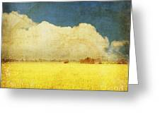 Yellow field Greeting Card by Setsiri Silapasuwanchai