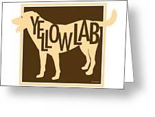 Yellow Lab Greeting Card by Geoff Strehlow