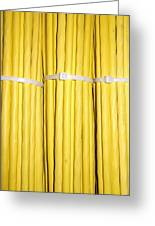 Yellow Network Cables Greeting Card by Matthias Hauser