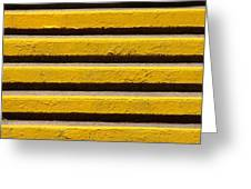 Yellow Steps Greeting Card by Steven Huszar