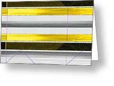 Yellow Stripes Greeting Card by Naxart Studio